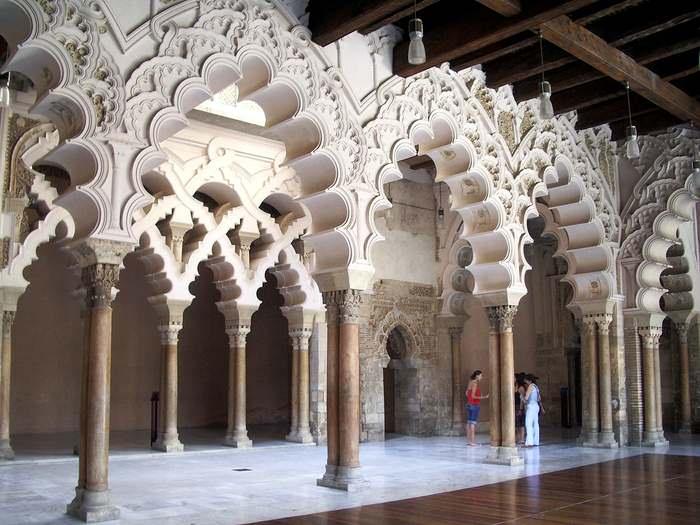 interior of the Aljaferia Castles in Spain