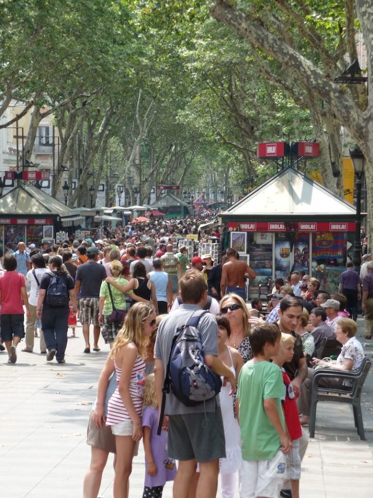 Barcelona's Bustling Ramblas