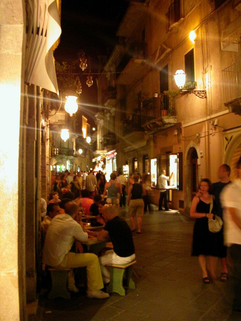 DIning al Fresco in Taormina