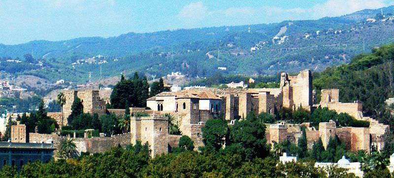 Alcabaza de Malaga, one of many castles in spain