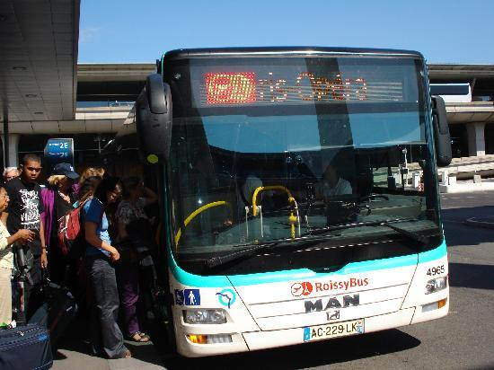 The Roissy bus at CDG