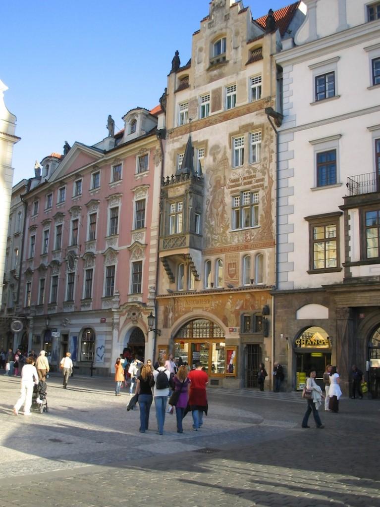 Prague ornate buildings