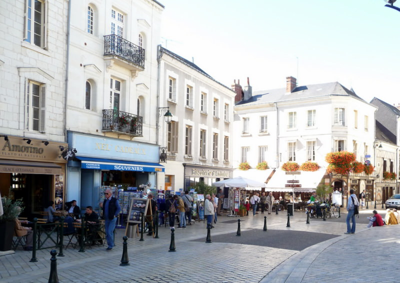 The charming town of Amboise