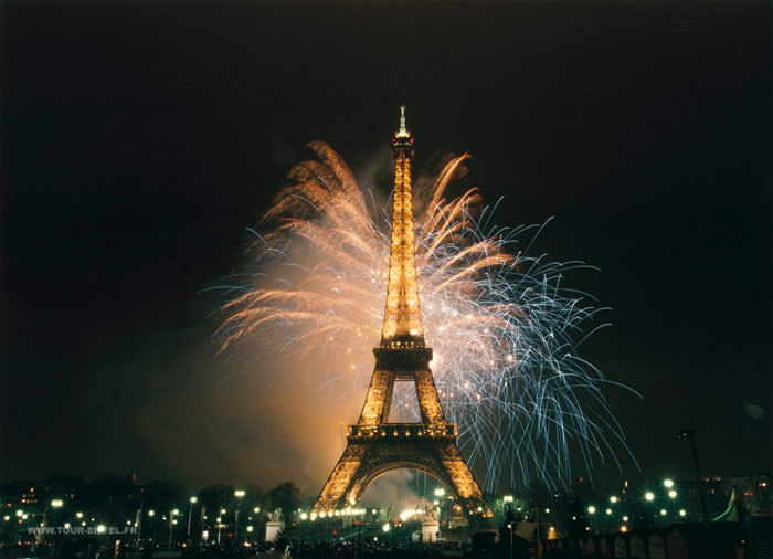 Eiffel Tower on New Years Eve