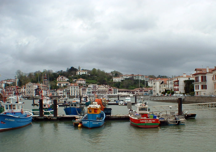The fishing port of St. Jean de Luz