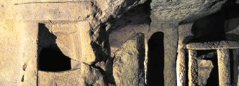 The site of Hypogeum, one of the stone temples of Malta