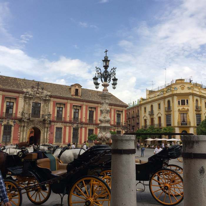 Charming Seville square