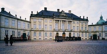 Amalienborg Palace in Copenhagen