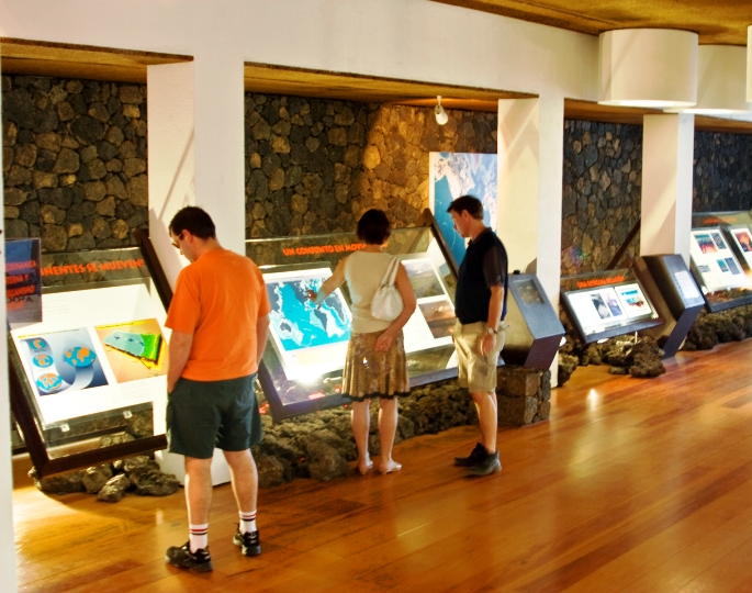 Displays at Museo Visitantes explain the geologic origins of Lanzarote Spain