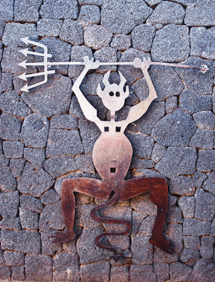 Cesar Manrique's symbol for Timanfaya in Lanzarote, Spain