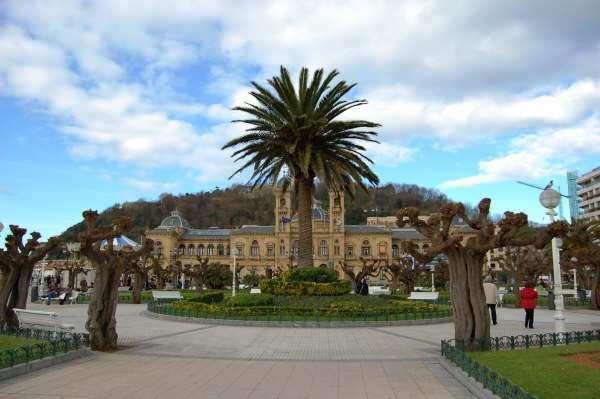 A  Plaza in San Sebastian, Spain