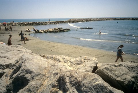 The beach at Saintes Maries de la Mer