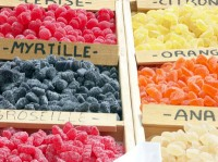 Candied fruit at the market