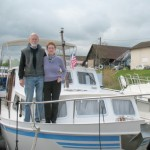 Joan and Neil aboard the Estate
