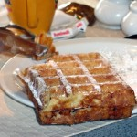 brussels waffle with sugar