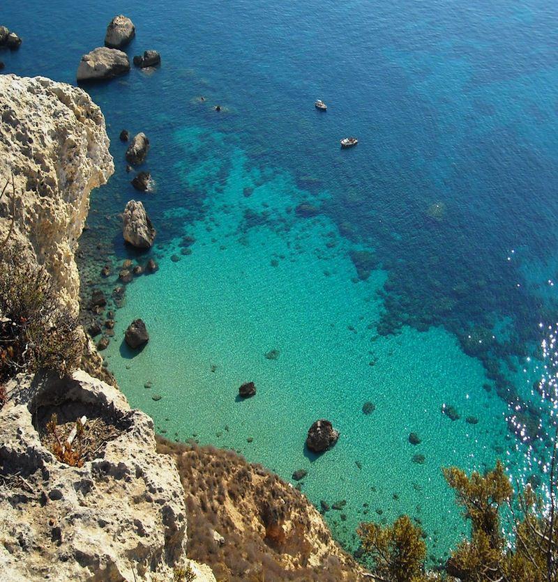 Sardinia shoreline