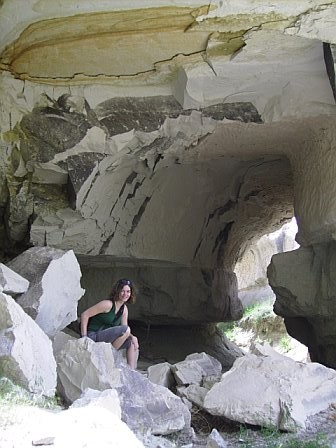 Visiting a cave outside Goreme