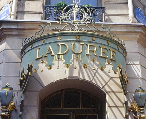 Laduree on the Champs Elysees