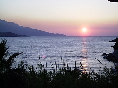 Sunset on the isle of Samos