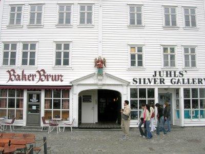 Bryggen's wooden buildings