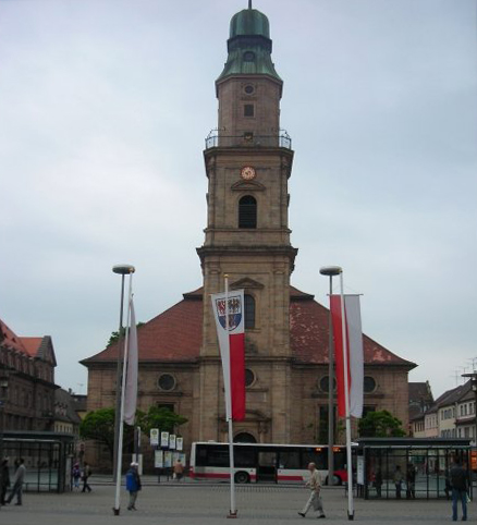 Huguenot church, one of the main symbols of Erlangen