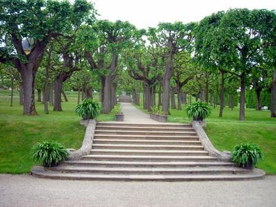 Extensive gardens- surrounding the Schloss Seehof