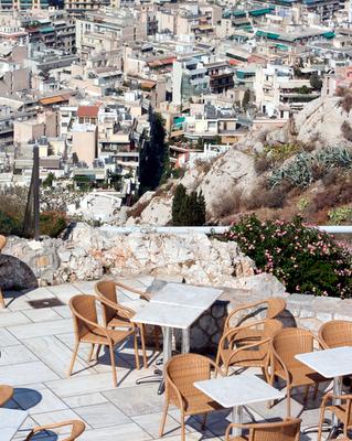 Greek Restaurant Terrace