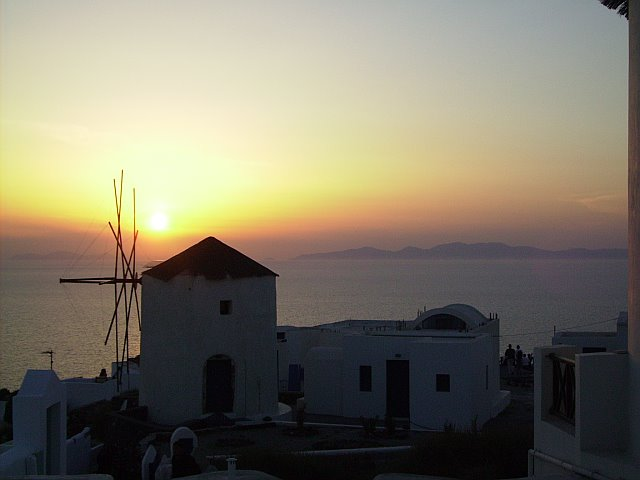 The beauty of an Oia sunset