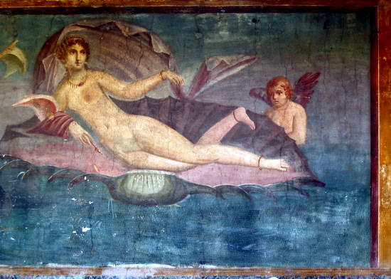 Beautiful fresco in Pompeii