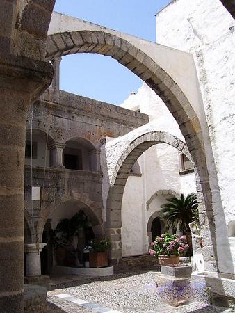 Inside the monastery of St John