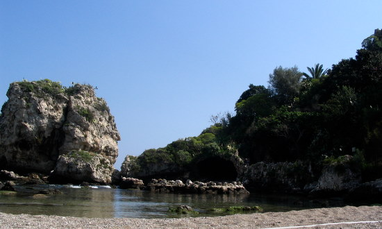 Beach and part of Isola Bella