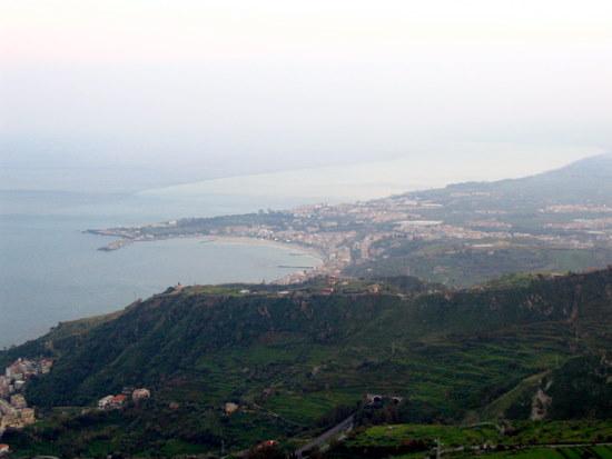 Down the coast from Taormina