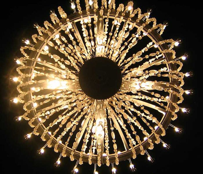 Wieliczka salt mine chandelier, made of salt