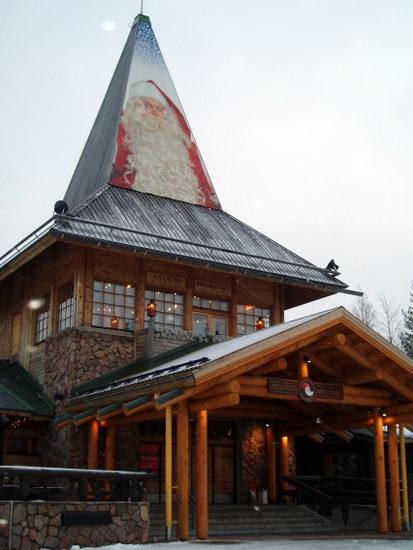 Santa's home at Santa clause Village in Lapland