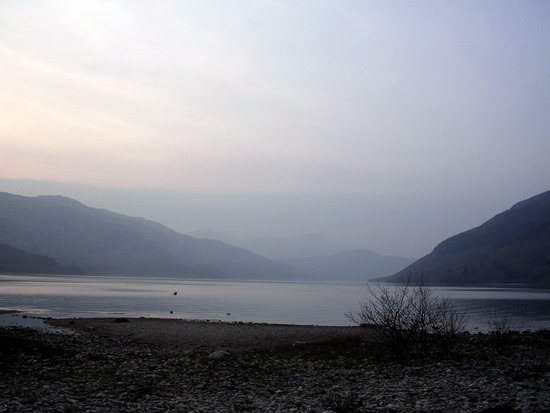Sunset at Loch Lomond camp site