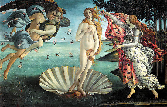 the Birth_of_Venus_(Botticelli)