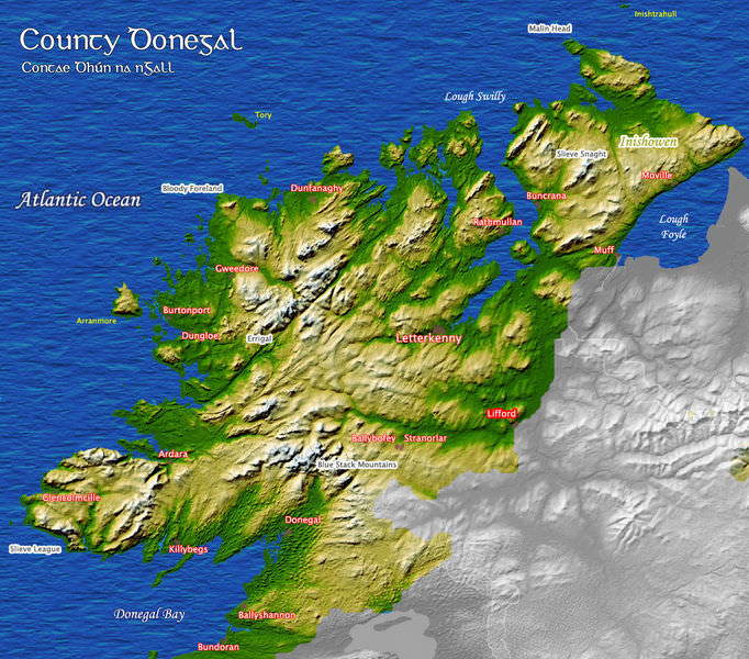 map of ireland in irish language. most Gaelic of Ireland#39;s