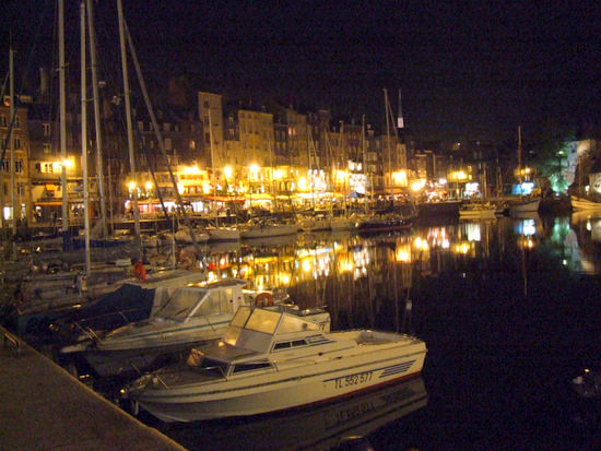 Honfleur at night