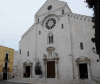 Outside the Duomo in Bari