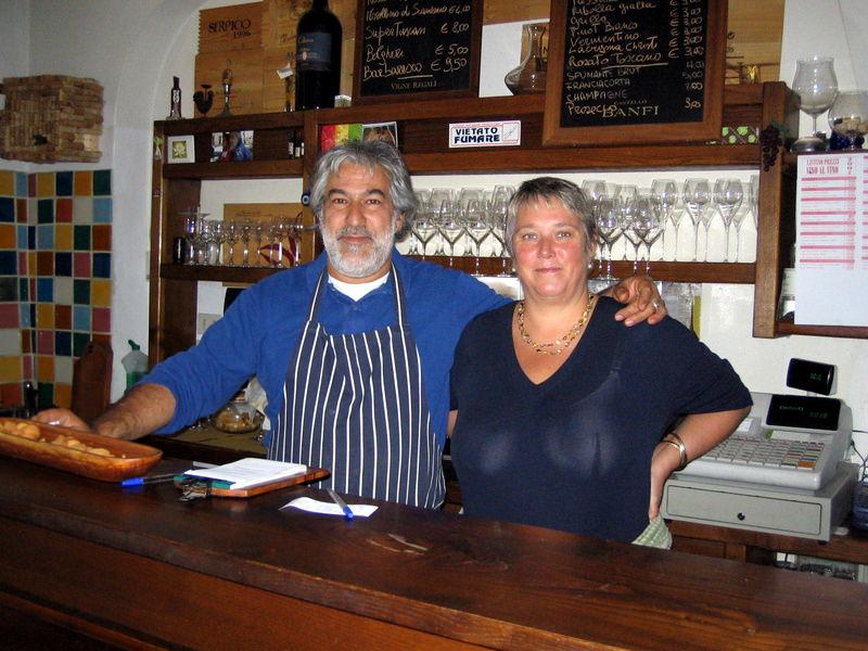 Owners of Enoteca Baldi