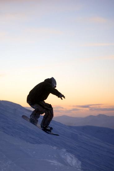Snowboarding in the Nevis Range