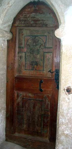Vistea church door