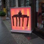 Gate outside a gallery near Freidrichstrasse