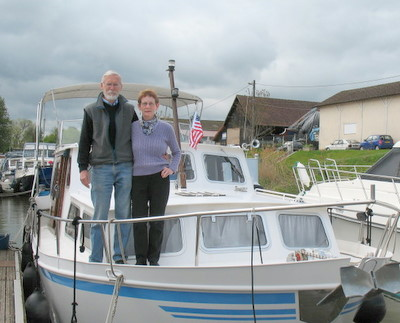 Joan and Neil Malling on the boat