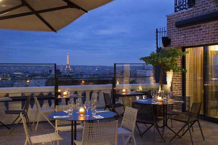 the Terrass Hotel offers great views over Paris