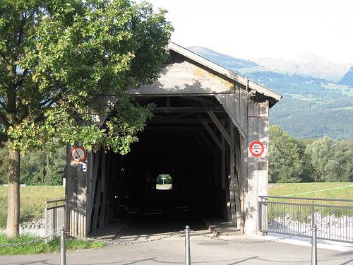 Border bridge in Vaduz