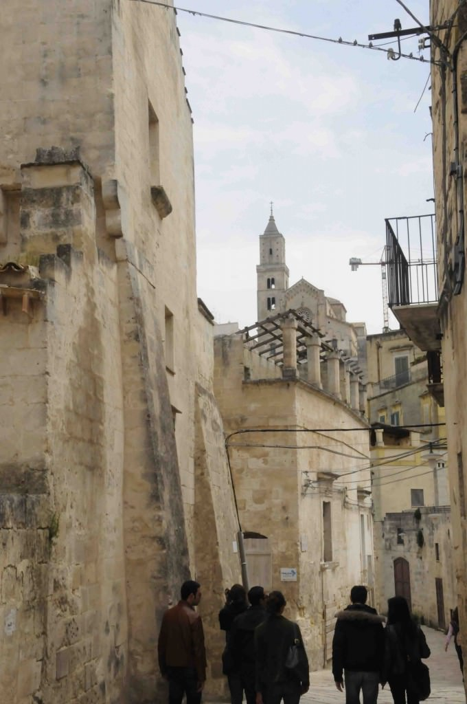 Matera street and duomo