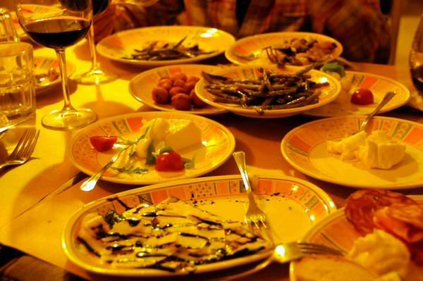 Plates of Antipasti