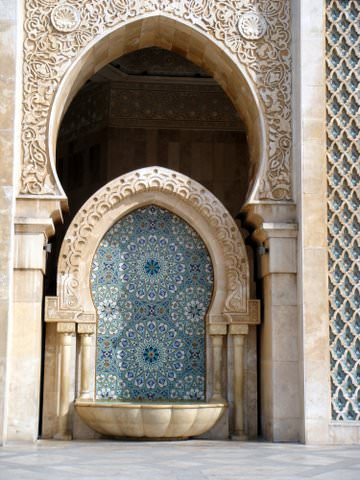Hassan II Mosque arch