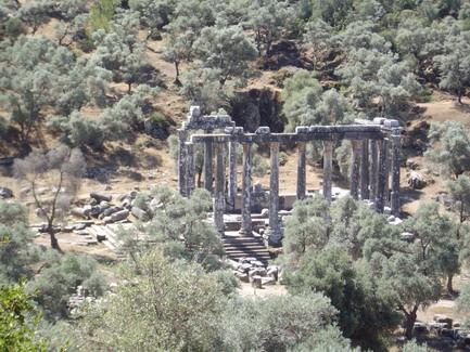 Ruins of Zeus temple in Euromos